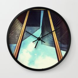 Building Reflections Wall Clock