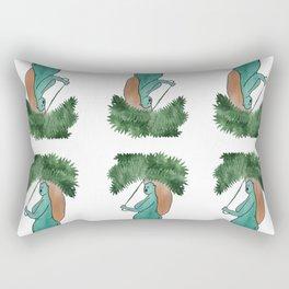 Rainy days in Galway pattern Rectangular Pillow