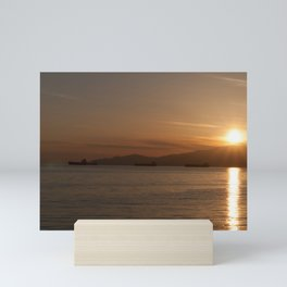 Sunset over Vancouver Bay Mini Art Print