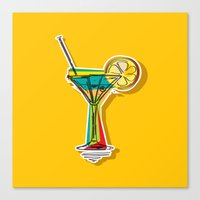 cocktail Canvas Prints featuring Cocktail by Rceeh