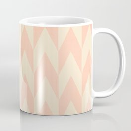 Vintage Pink Uneven Chevron Pattern Coffee Mug