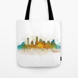 Dallas Texas City Skyline watercolor v03 Tote Bag