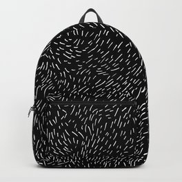 Dashed line drawn by pen Backpack