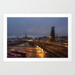 Stockholm Nights Art Print