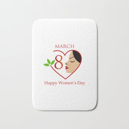Happy womens day- she persisted gifts Bath Mat