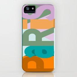 Paris font play art deco style iPhone Case