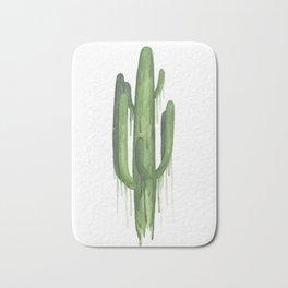 Drippy Green Saguaro Bath Mat