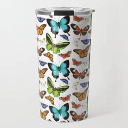 Butterflies - colourful pattern Travel Mug