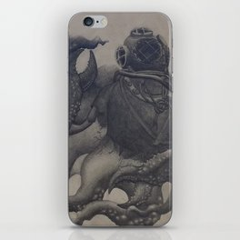 Scuba Diver with Crab Hands iPhone Skin