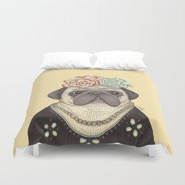 Frida Pug Kahlo Duvet Cover