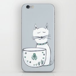 The Cat & The Octopus iPhone Skin