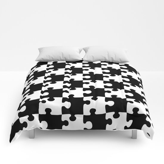 Checkerboard Puzzle Pieces Comforters