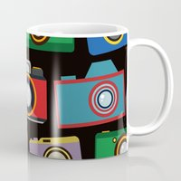 cameras Mugs featuring colourful cameras by vitamin