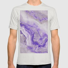 Ultra Violet and Gray Marble Agate Quartz T-shirt