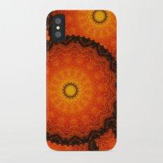 Velvet Sunflowers Motif -- Vibrant Autumn Hues Slim Case iPhone X