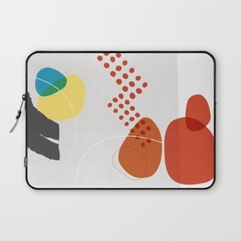 Shape & Hue Series No. 3 – Yellow, Orange & Blue Modern Abstract Laptop Sleeve