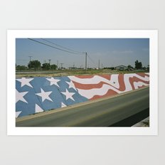 Highway Flag Mural Art Print