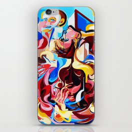 Expressive Abstract People Music Composition painting iPhone Skin