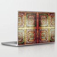 quilt Laptop & iPad Skins featuring Ancient Quilt by Robin Curtiss