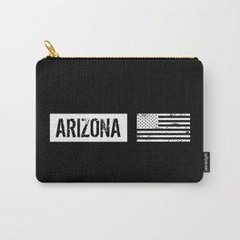 Black & White U.S. Flag: Arizona Carry-All Pouch
