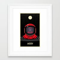 the moon Framed Art Prints featuring Moon by Omega Man 5000