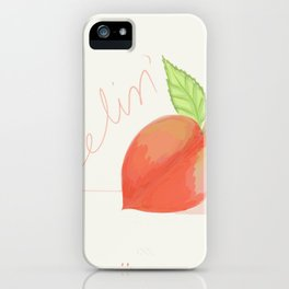 Feeling peachy iPhone Case