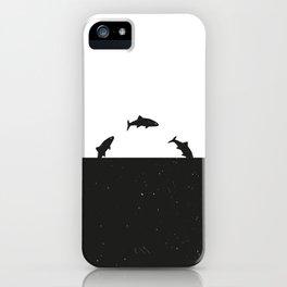 Fish print Black & White iPhone Case