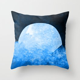Cold blue stones Throw Pillow