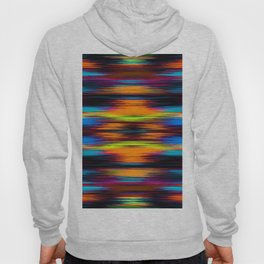 vintage psychedelic geometric abstract pattern in orange brown blue yellow Hoody