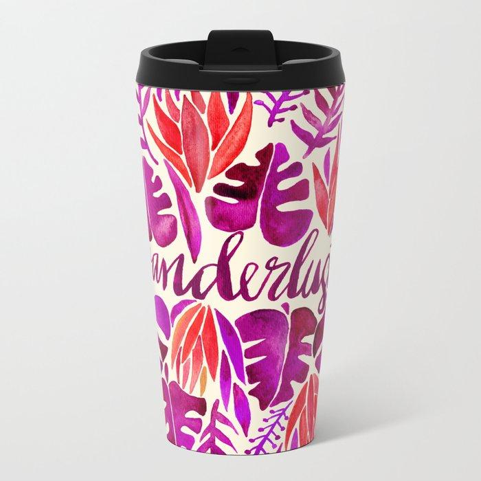 Tropical Wanderlust – Magenta Palette Metal Travel Mug