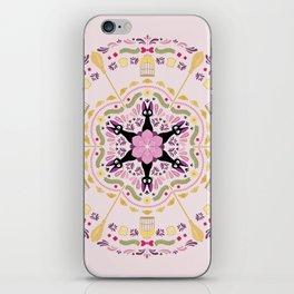 Cat & Sakura Mandala iPhone Skin