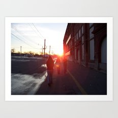 An Allentown Sunset Art Print