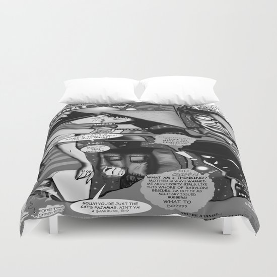 Bird of Steel Comix – #8 of 8  - (Society 6 POP-ART COLLECTION SERIES) Duvet Cover