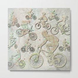 Bike Brooklyn Metal Print