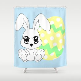 The Easter bunny Shower Curtain