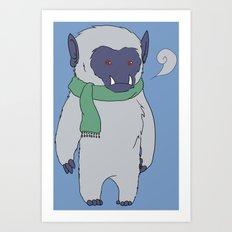 Yeti Boy Art Print