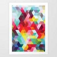 sublime geometries 01 Art Print