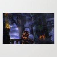 castlevania Area & Throw Rugs featuring Castlevania: The Bridge by FirebornForm