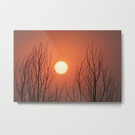 Burning Sky Metal Print