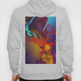 New Dream. Blue, Yellow and Red Abstract. Hoody