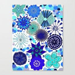 The Blue Garden Canvas Print