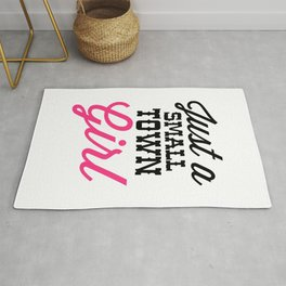 Small Town Girl Music Quote Rug