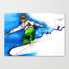 Snowboarder girl Canvas Print