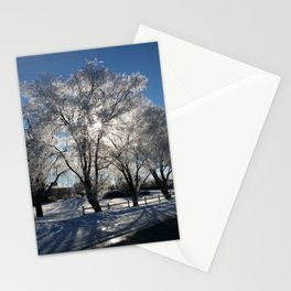 Sunshine in winter Stationery Cards
