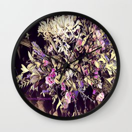 Pink and Purple for Valentines Day Wall Clock