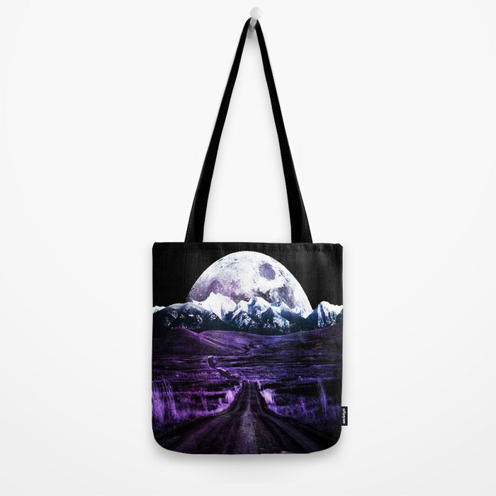 Highway to Eternity (moon mountain) violet Tote Bag