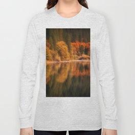 Natures Mirror reflecting Fall colors Long Sleeve T-shirt