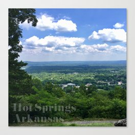 Scenic overlook of Hot Springs Arkansas Canvas Print