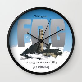 With Great FOG... Wall Clock