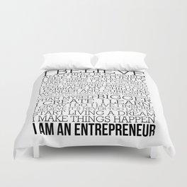 Entrepreneur Manifesto Duvet Cover